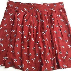 ** Gap ** pleated bird skirt with pockets